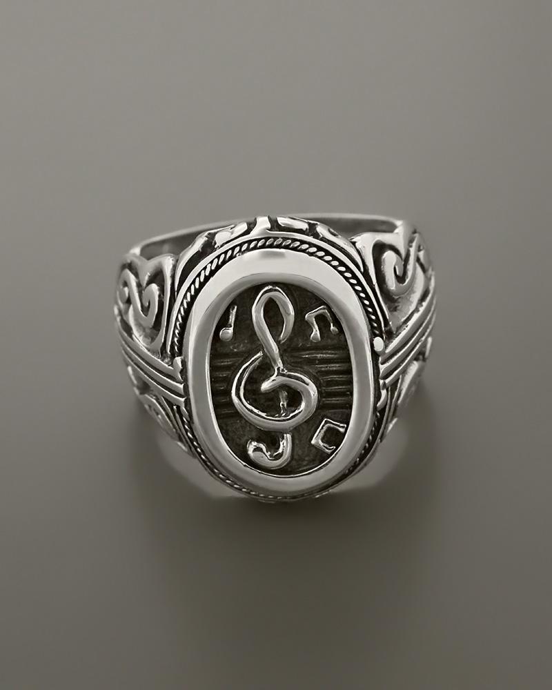 Δαχτυλίδι κλειδί του σολ ασημένιο 925   κοσμηματα δαχτυλίδια δαχτυλίδια ανδρικά