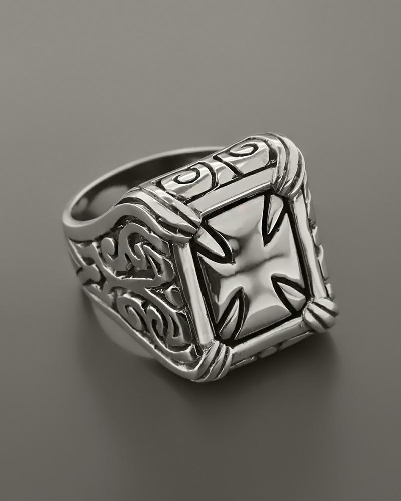 Δαχτυλίδι αντρικό ασημένιο 925
