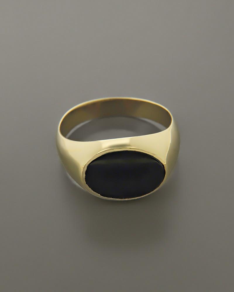 Δαχτυλίδι ανδρικό χρυσό Κ14 με Όνυχα   κοσμηματα δαχτυλίδια δαχτυλίδια ανδρικά