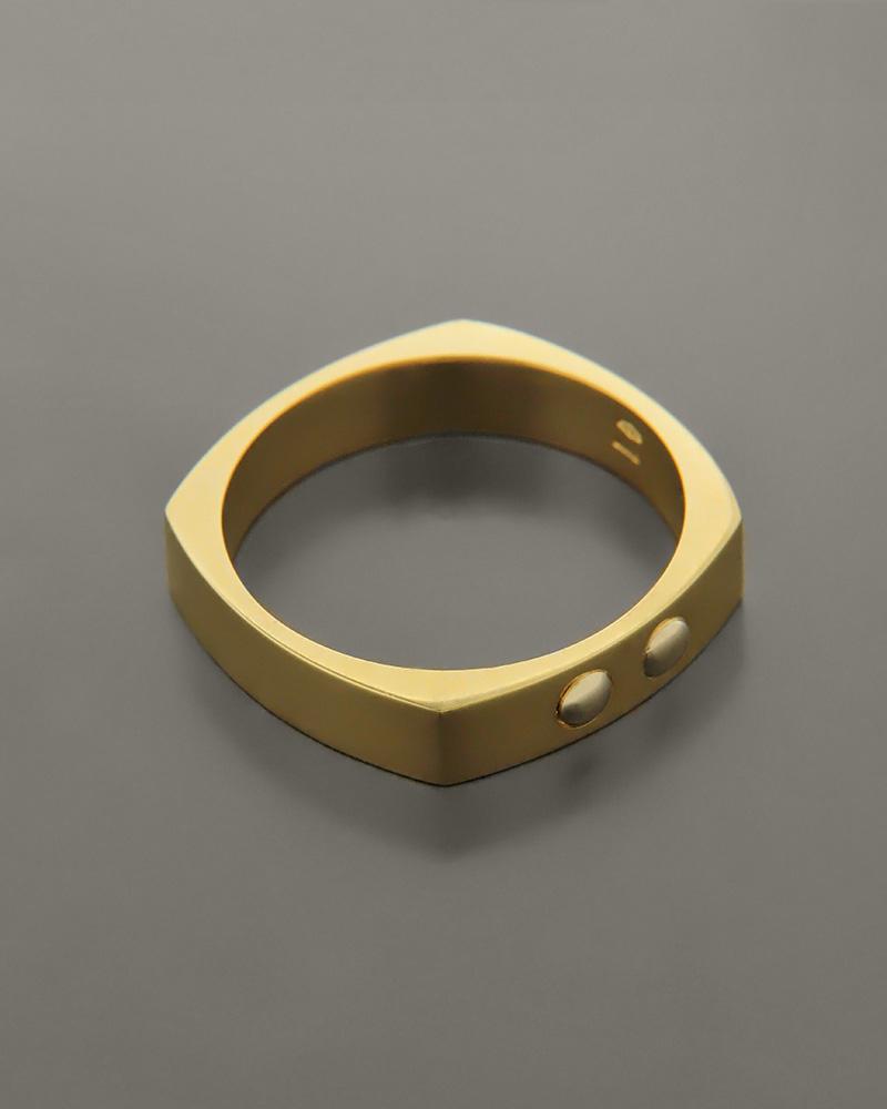 Δαχτυλίδι ανδρικό χρυσό Κ14