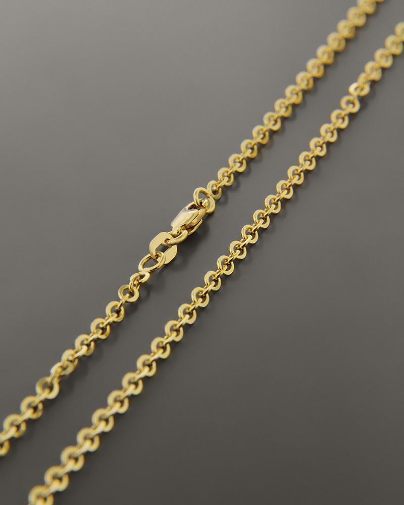 Αλυσίδα λαιμού χρυσή Κ14 50,5cm   παιδι αλυσίδες λαιμού αλυσίδες χρυσές
