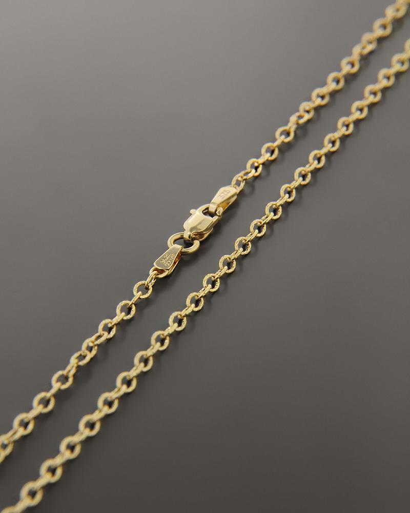 Αλυσίδα λαιμού χρυσή Κ9 50,5cm   παιδι αλυσίδες λαιμού αλυσίδες χρυσές