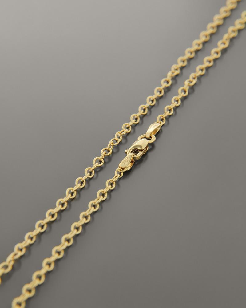 Αλυσίδα λαιμού χρυσή Κ9 45cm   παιδι αλυσίδες λαιμού αλυσίδες χρυσές