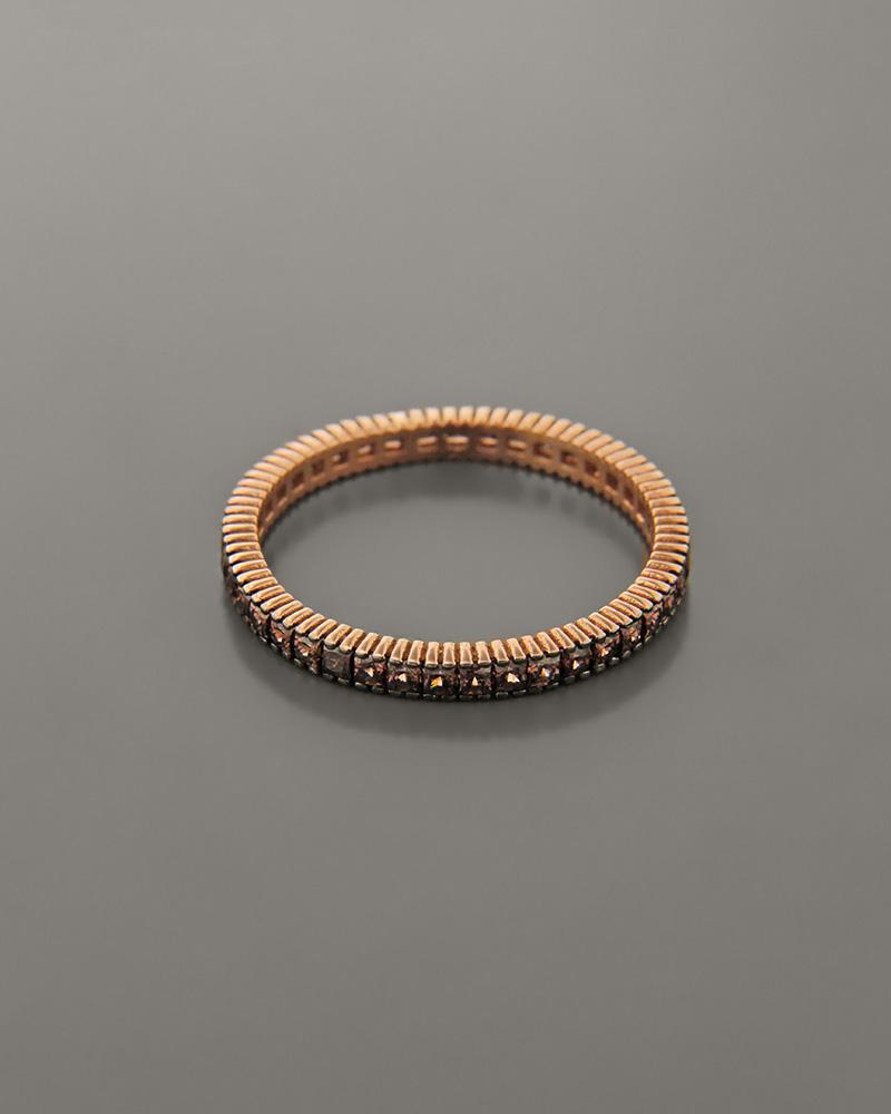 Βέρα ροζ χρυσή Κ14 με Ζιργκόν   κοσμηματα δαχτυλίδια δαχτυλίδια σειρέ