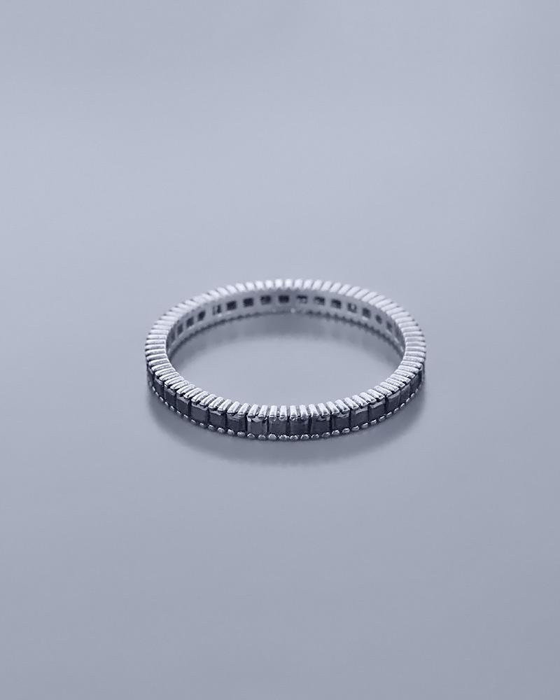 Βέρα λευκόχρυση Κ14 με Ζιργκόν   γυναικα δαχτυλίδια δαχτυλίδια λευκόχρυσα
