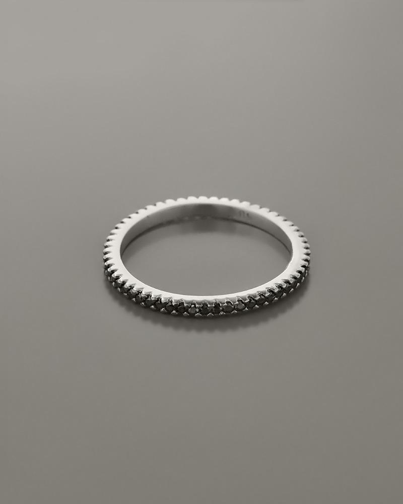 Βέρα λευκόχρυση Κ14 με Ζιργκόν   κοσμηματα δαχτυλίδια δαχτυλίδια σειρέ