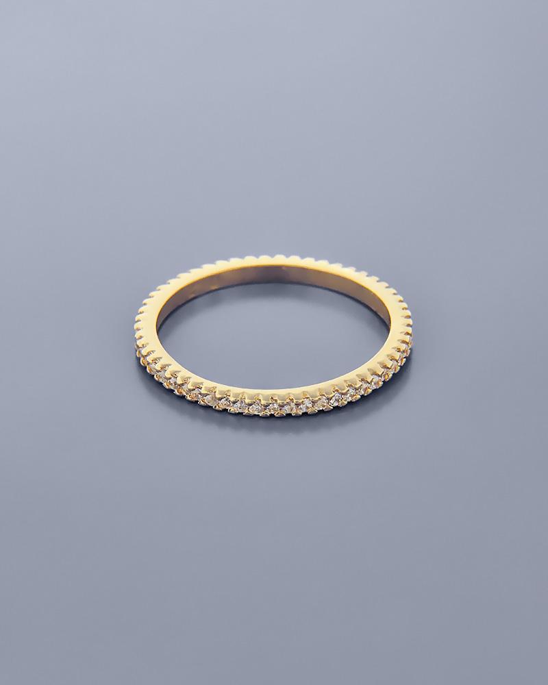 Βέρα χρυσή Κ14 με Ζιργκόν   γυναικα δαχτυλίδια δαχτυλίδια χρυσά