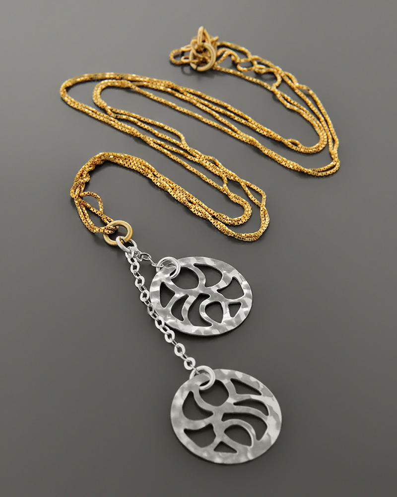 Κολιέ χρυσό & λευκόχρυσο Κ14   γυναικα κρεμαστά κολιέ κρεμαστά κολιέ χρυσά