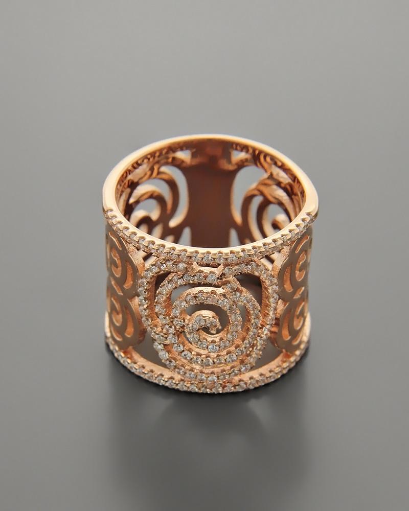 Δαχτυλίδι ασημένιο με ζιργκόν RS3038   κοσμηματα δαχτυλίδια δαχτυλίδια fashion