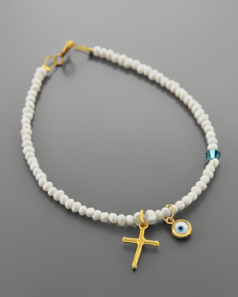 Βραχιόλι από ασήμι 925 με μαργαριτάρια   κοσμηματα κοσμήματα με ματάκι