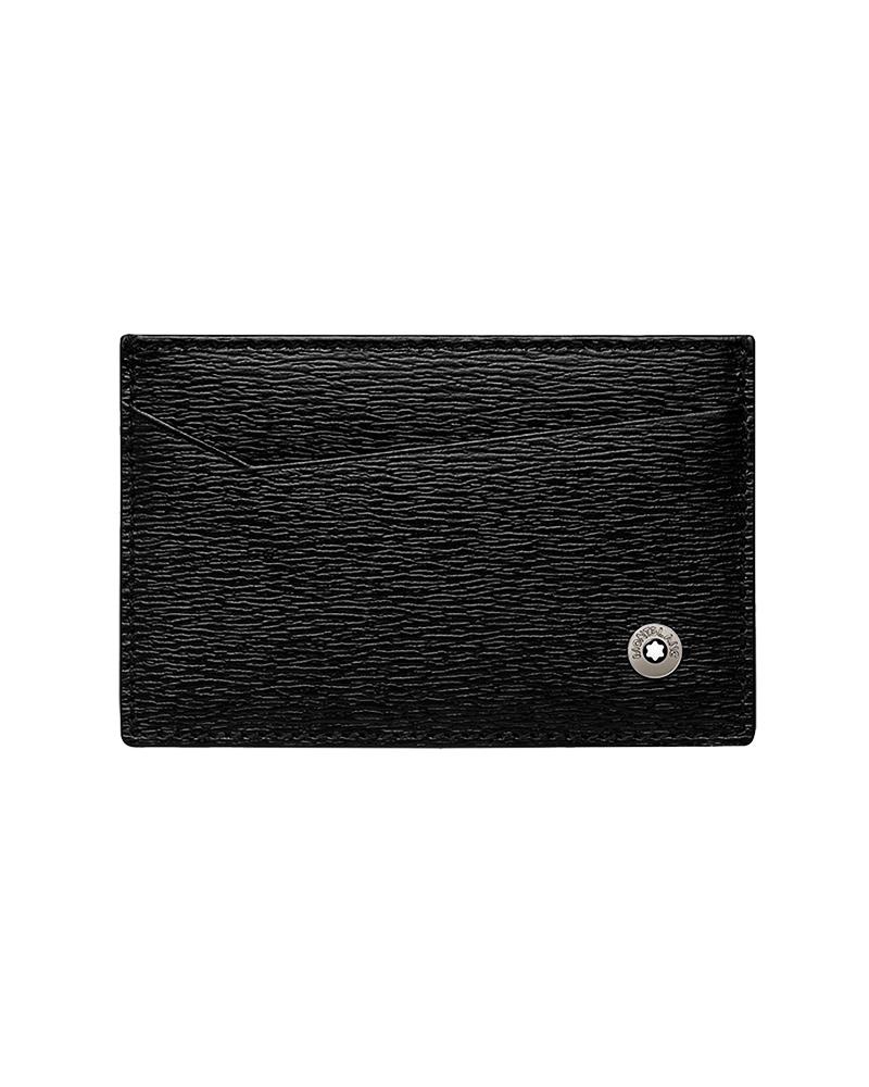 Montblanc Θήκη καρτών Μαύρη Meisterstuck 116385   brands montblanc δερμάτινα είδη   αξεσουάρ