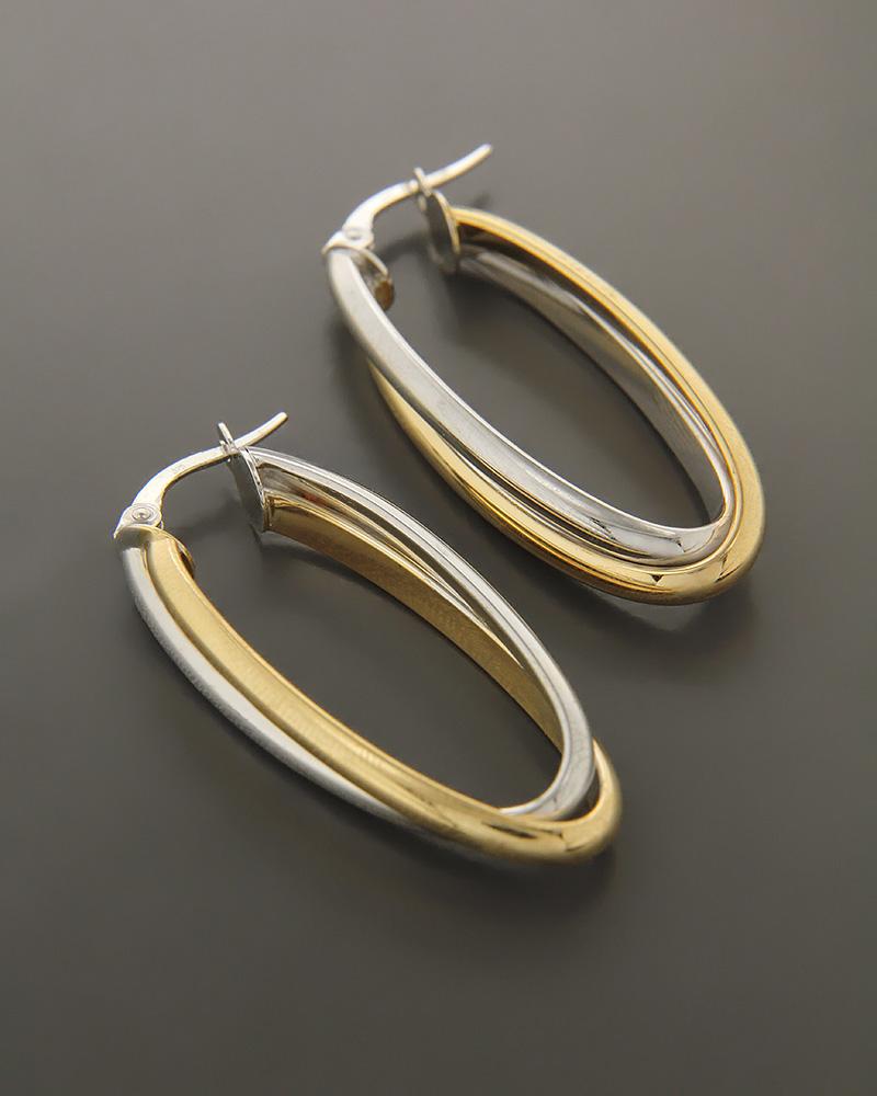Σκουλαρίκια χρυσά και λευκόχρυσα Κ9   γυναικα σκουλαρίκια σκουλαρίκια λευκόχρυσα