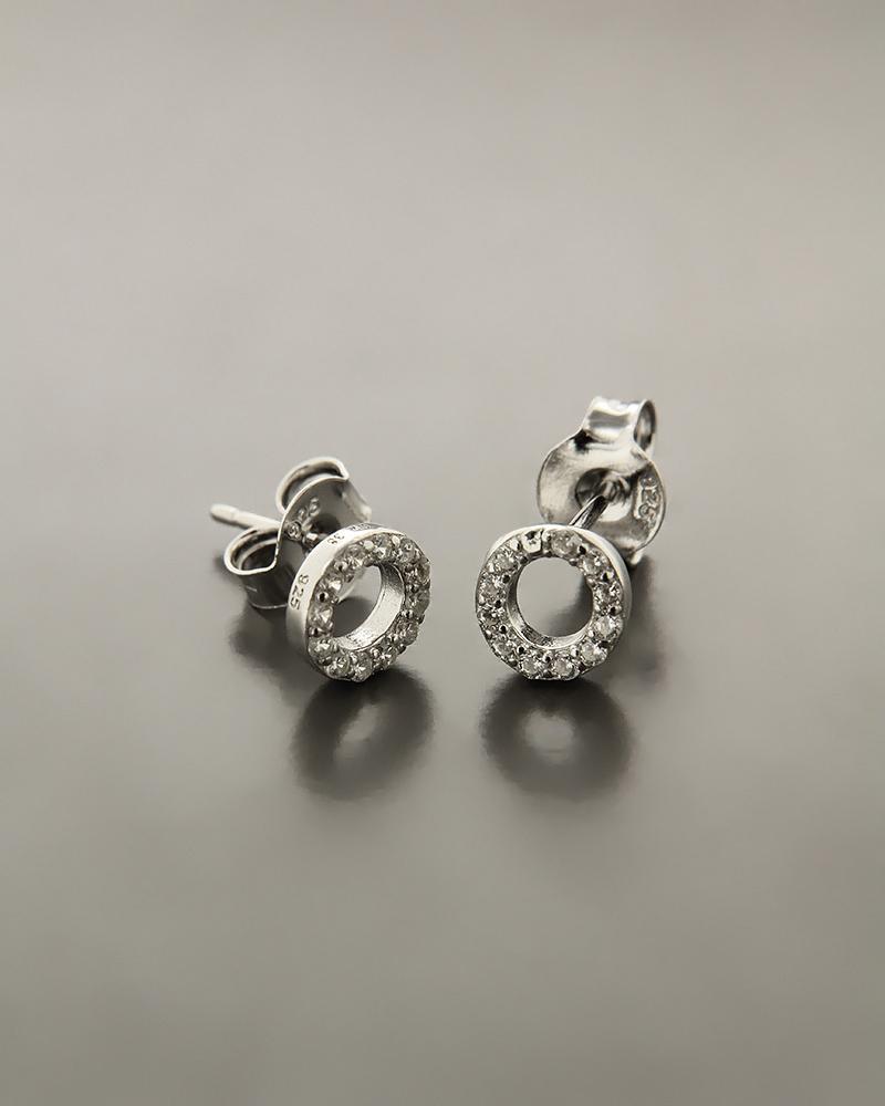 Σκουλαρίκια ασημένια με ζιργκόν ES1506   νεεσ αφιξεισ κοσμήματα γυναικεία