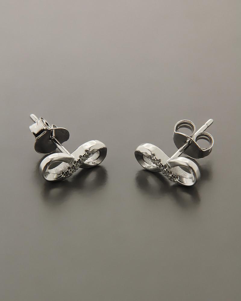 Σκουλαρίκια ασημένια με ζιργκόν ES1500   νεεσ αφιξεισ κοσμήματα γυναικεία