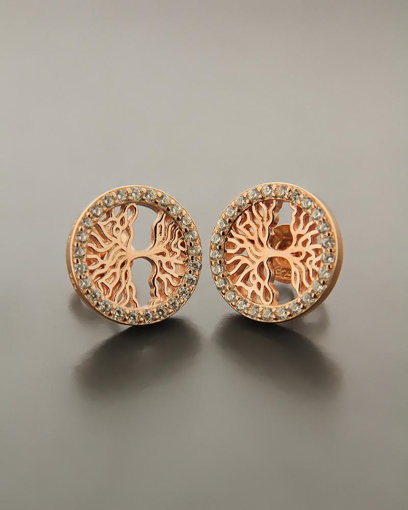 Σκουλαρίκια ασημένια με ζιργκόν ES1536   νεεσ αφιξεισ κοσμήματα γυναικεία
