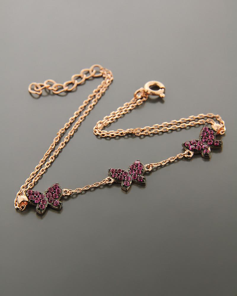 Βραχιόλι ασημένιο με ζιργκόν BS937   νεεσ αφιξεισ κοσμήματα γυναικεία