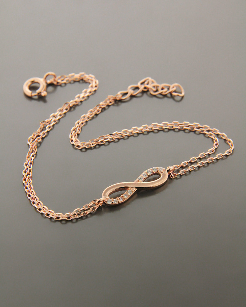 Βραχιόλι ασημένιο με ζιργκόν BS1073   νεεσ αφιξεισ κοσμήματα γυναικεία
