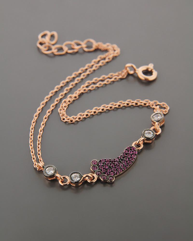 Βραχιόλι ασημένιο με ζιργκόν BS945   γυναικα κοσμήματα για τη μαμά