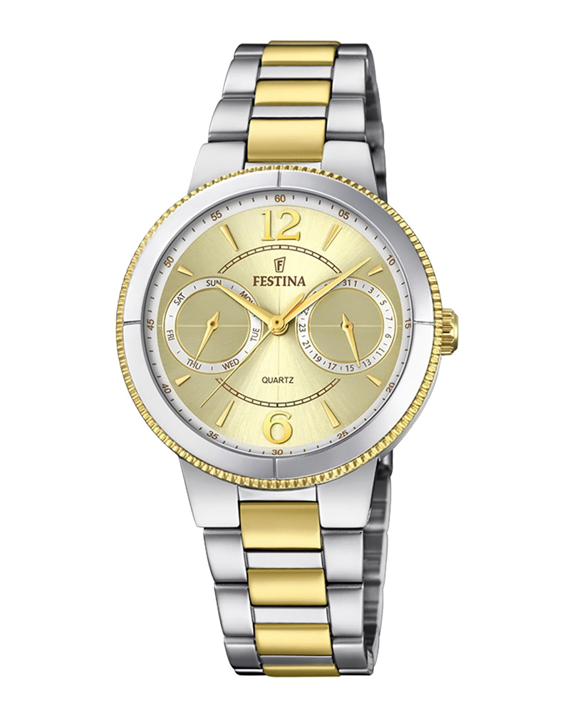 FESTINA Multifunction Two Tone Stainless Steel Bracelet F20207/1   brands festina