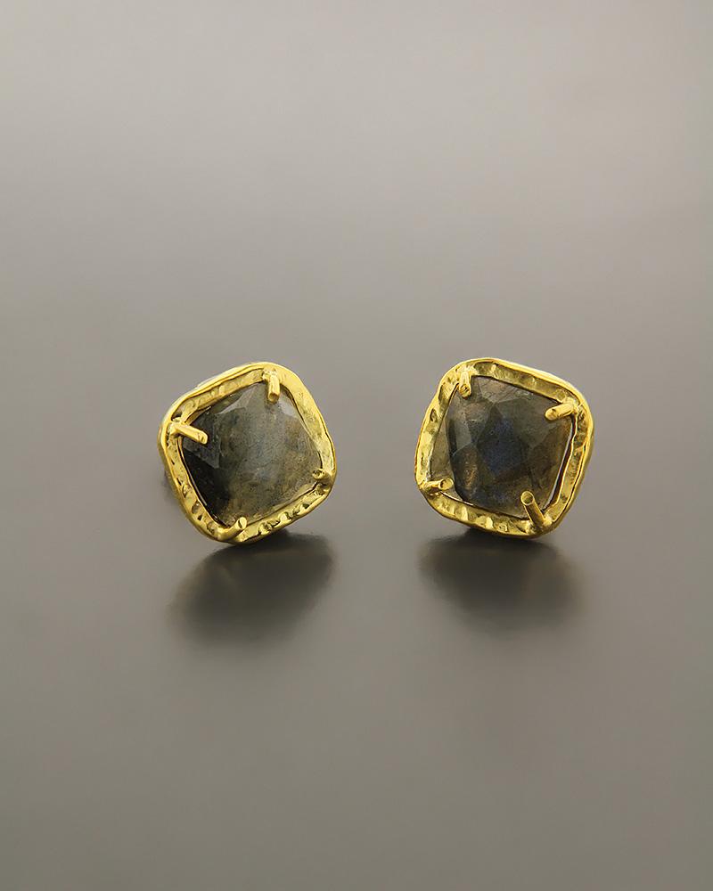 Σκουλαρίκια ασημένια 925 με Λαβραδορίτη   γυναικα σκουλαρίκια σκουλαρίκια ημιπολύτιμοι λίθοι