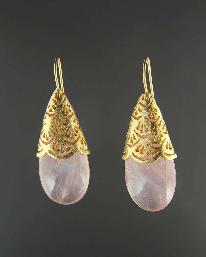 Σκουλαρίκια ασημένια 925 με Χαλαζία   γυναικα σκουλαρίκια σκουλαρίκια ημιπολύτιμοι λίθοι