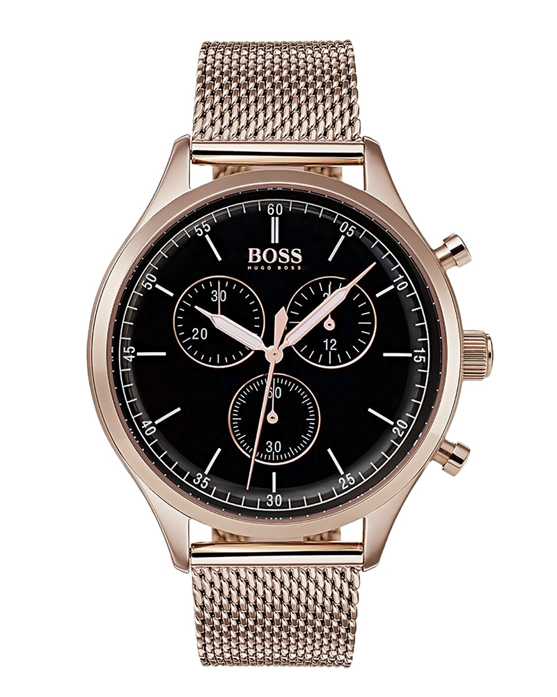 BOSS Black Line Chronograph Rose Gold Stainless Steel 1513548   brands boss ρολόγια boss