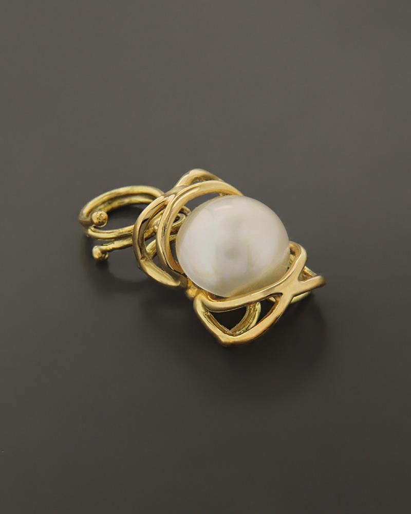 Μενταγιόν χρυσό Κ18 με Μαργαριτάρι   κοσμηματα κρεμαστά κολιέ κρεμαστά κολιέ ημιπολύτιμοι λίθοι