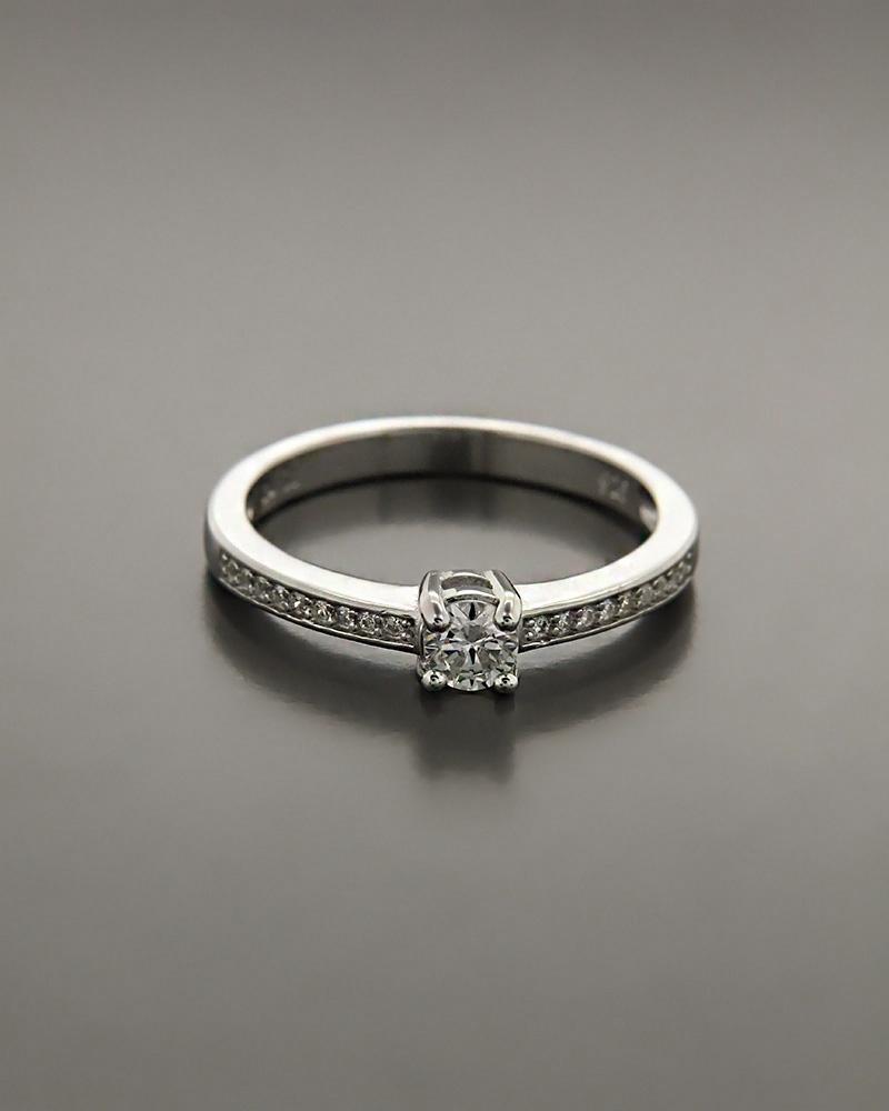 Μονόπετρο δαχτυλίδι ασημένιο με λευκά ζιργκόν RS3196   γαμοσ μονόπετρα μονοπετρα με ζιργκόν