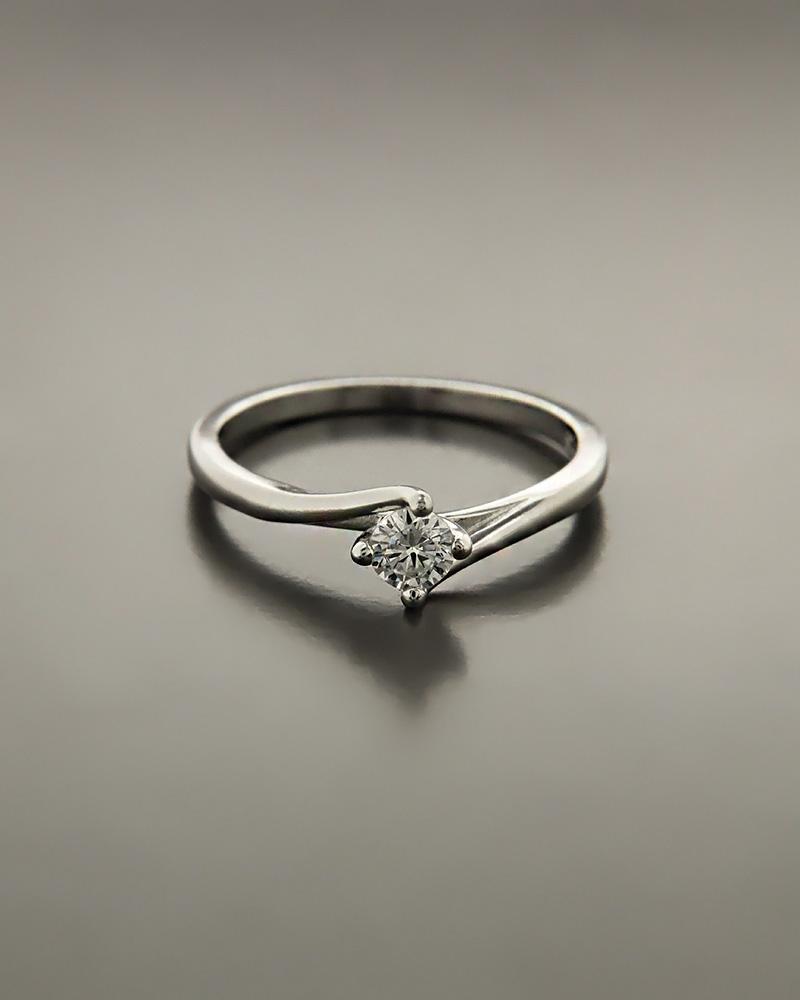 Μονόπετρο δαχτυλίδι ασημένιο με λευκό ζιργκόν   γαμοσ μονόπετρα μονοπετρα με ζιργκόν