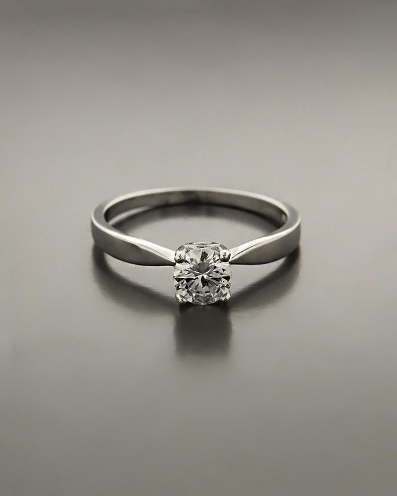 Μονόπετρο δαχτυλίδι ασημένιο με λευκό ζιργκόν   ζησε το μυθο μονόπετρα μονοπετρα με ζιργκόν