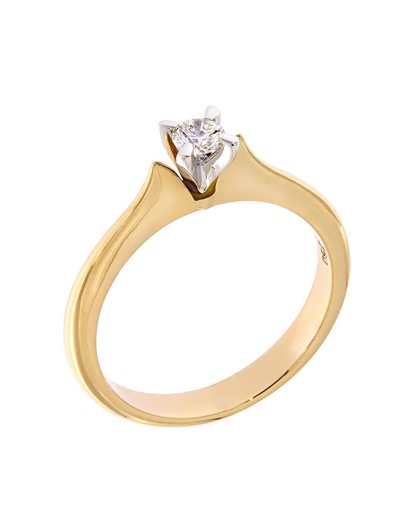 Δαχτυλίδι μονόπετρο από ροζ και λευκό χρυσό Κ18 με Διαμάντια   γαμοσ μονόπετρα μονοπετρα με διαμάντια