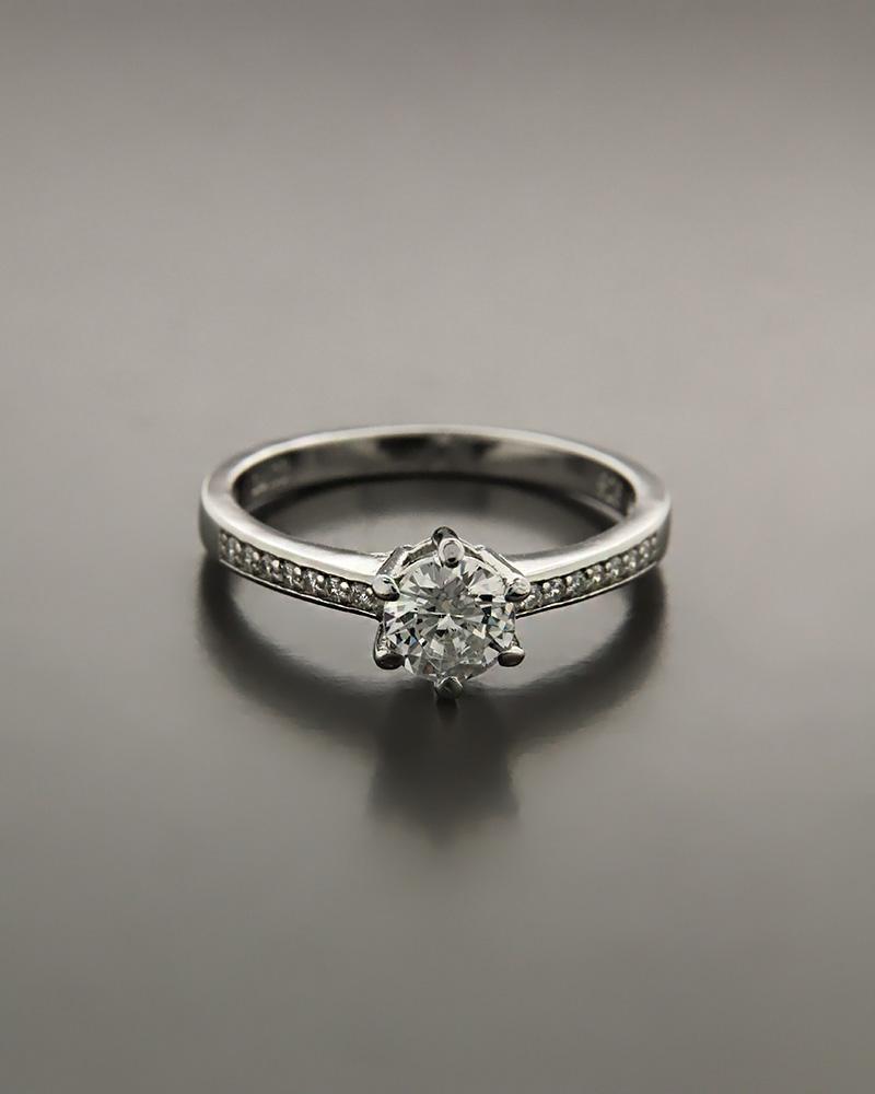 Μονόπετρο δαχτυλίδι ασημένιο με λευκά ζιργκόν RS3193   ζησε το μυθο μονόπετρα μονοπετρα με ζιργκόν