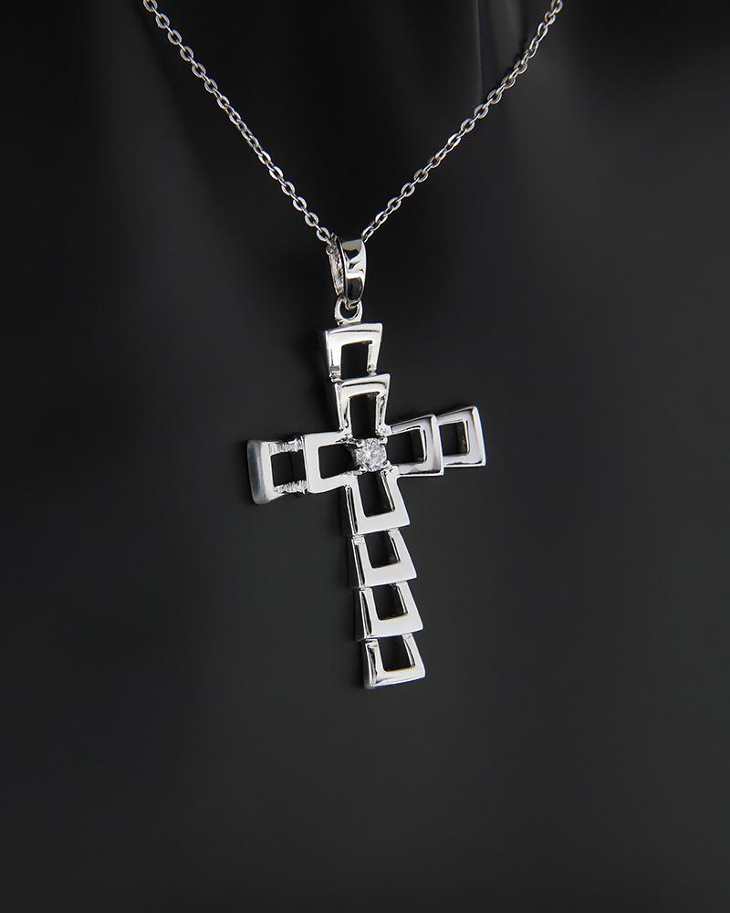 Σταυρός από λευκό χρυσό K18 με λευκό διαμάντι   παιδι βαπτιστικοί σταυροί βαπτιστικοί σταυροί για κορίτσι