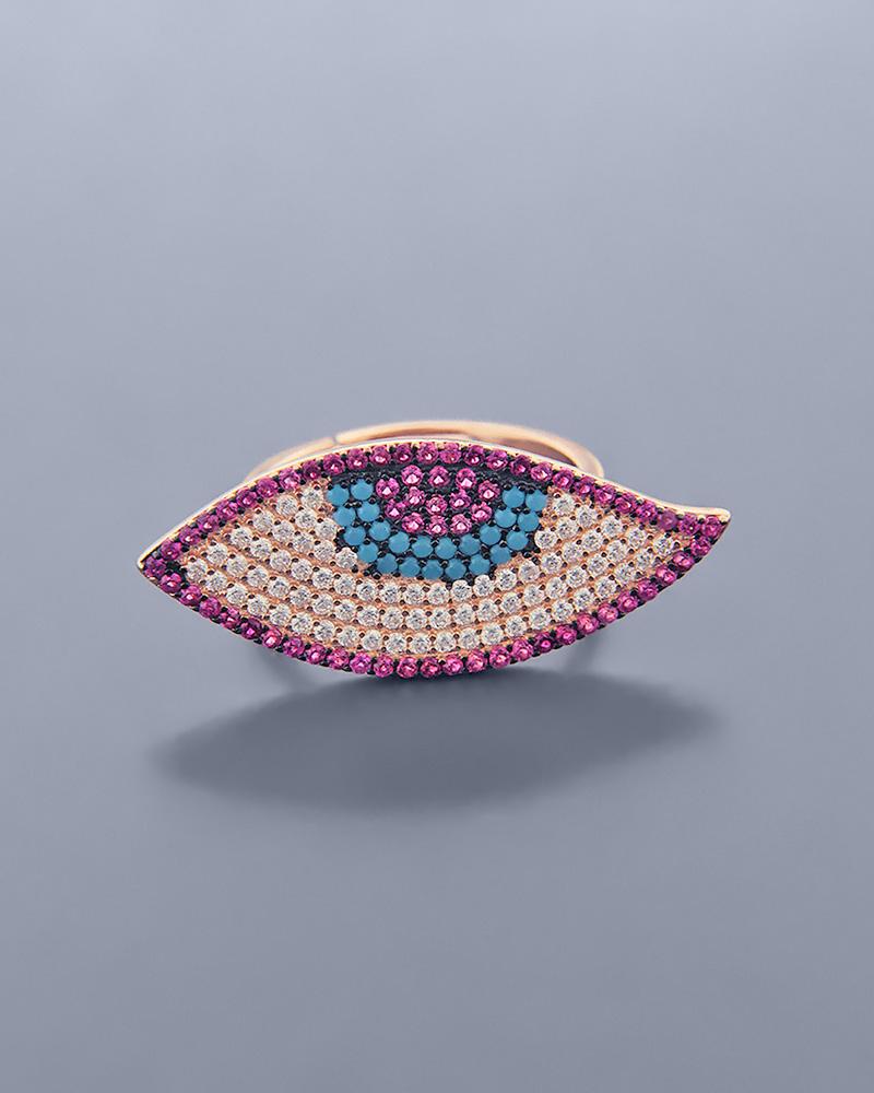 Δαχτυλίδι ματάκι ασημένιο 925 με Ζιργκόν   γυναικα κοσμήματα με ματάκι
