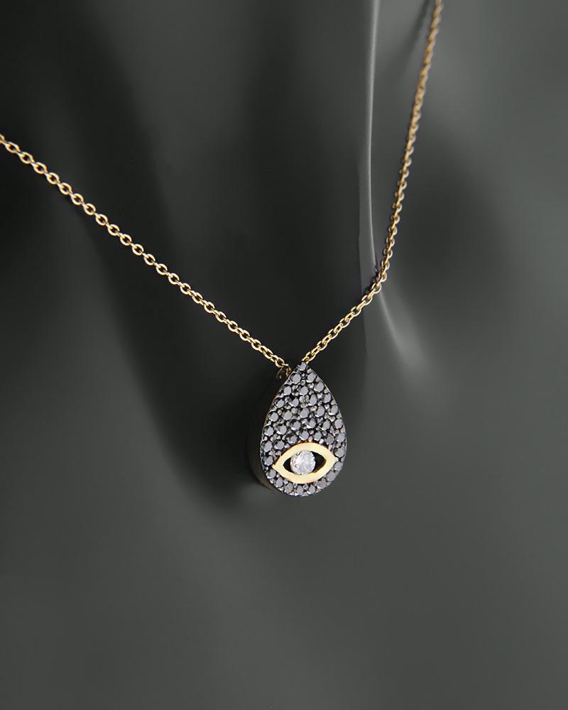Κολιέ χρυσό Κ18 με Διαμάντια   κοσμηματα κρεμαστά κολιέ κρεμαστά κολιέ χρυσά