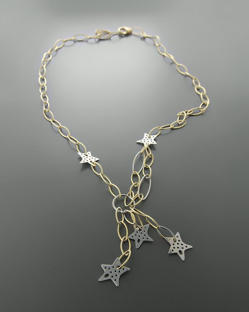 Κολιέ χρυσό και λευκόχρυσο Κ18   κοσμηματα κρεμαστά κολιέ κρεμαστά κολιέ λευκόχρυσα