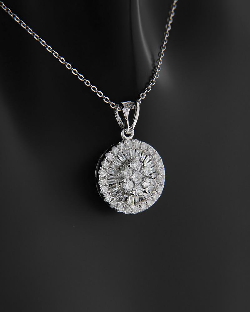 Μενταγιόν λευκόχρυσο Κ18 με Διαμάντια PO0786735   γυναικα κρεμαστά κολιέ κρεμαστά κολιέ λευκόχρυσα