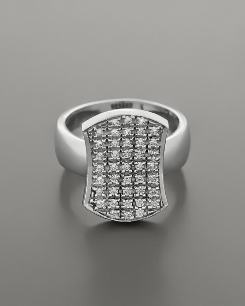 Δαχτυλίδι από Λευκόχρυσο Κ14 με Ζιργκόν   γυναικα δαχτυλίδια δαχτυλίδια λευκόχρυσα