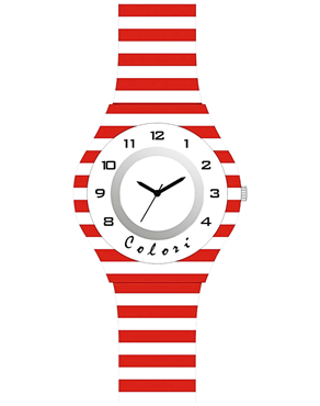 Ρολόι COLORI Kids Red & White CLK103