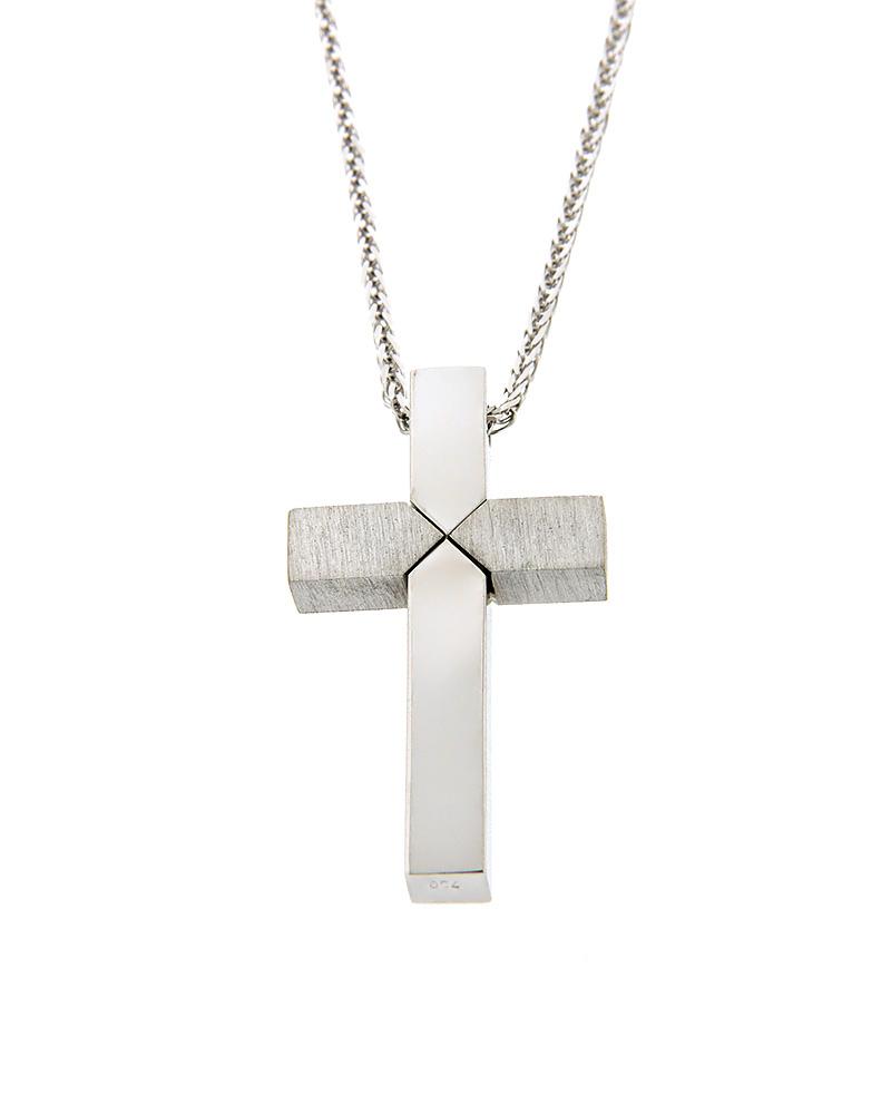 Σταυρός λευκόχρυσος Κ18   παιδι βαπτιστικοί σταυροί βαπτιστικοί σταυροί για αγόρι