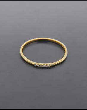 Δαχτυλίδι χρυσό Κ9 με ζιργκόν 97ac9de2d90