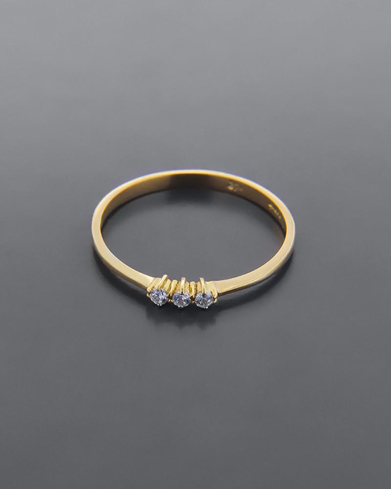 Δαχτυλίδι χρυσό Κ9 με ζιργκόν   γυναικα δαχτυλίδια δαχτυλίδια χρυσά