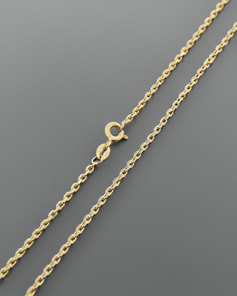Αλυσίδα λαιμού χρυσή Κ14 49,5 cm   κοσμηματα αλυσίδες λαιμού αλυσίδες χρυσές
