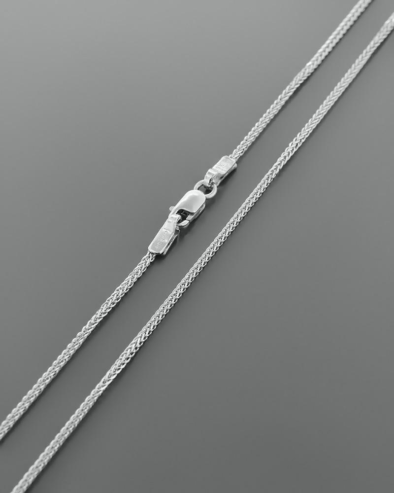 Αλυσίδα λαιμού λευκόχρυση Κ14 49 cm   γυναικα αλυσίδες λαιμού αλυσίδες λευκόχρυσες