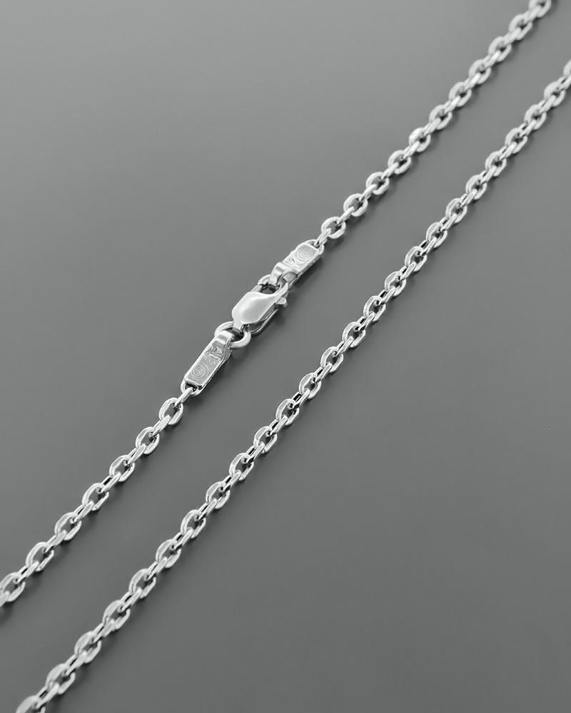 Αλυσίδα λαιμού λευκόχρυση Κ14 44,5 cm   παιδι αλυσίδες λαιμού αλυσίδες λευκόχρυσες