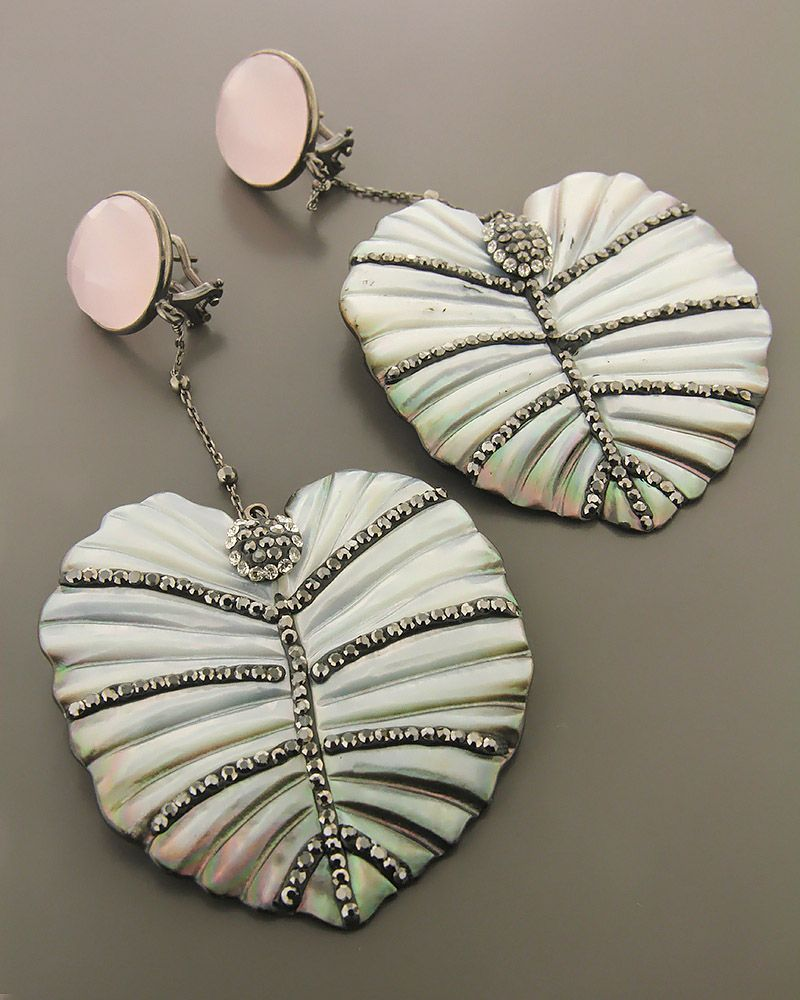 Σκουλαρίκια ασημένια 925 με ζιργκόν και χαλαζία   γυναικα σκουλαρίκια σκουλαρίκια ημιπολύτιμοι λίθοι