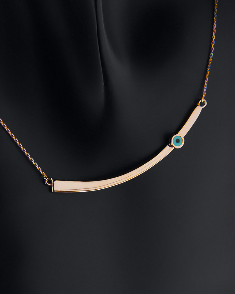 ΧΡΥΣΟ ΚΟΛΙΕ NK155   γυναικα κοσμήματα με ματάκι