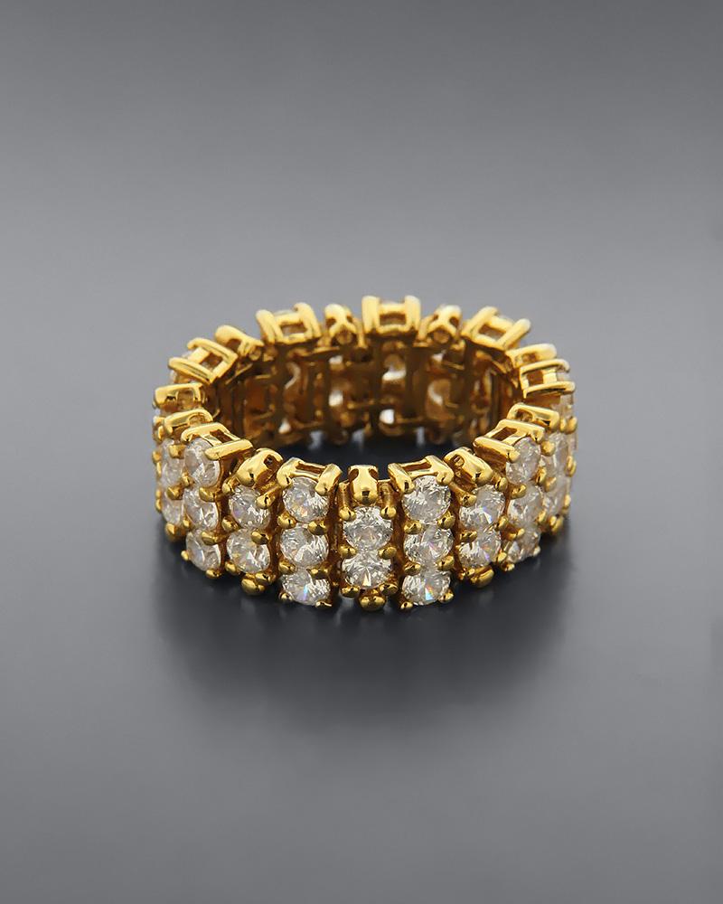 Δαχτυλίδι από χρυσό Κ18 με ζιργκόν   γαμοσ νυφικό κόσμημα