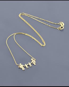 Κολιέ Χρυσό Κ14 Με Ζιργκόν Οικογένεια cb1bb431eac