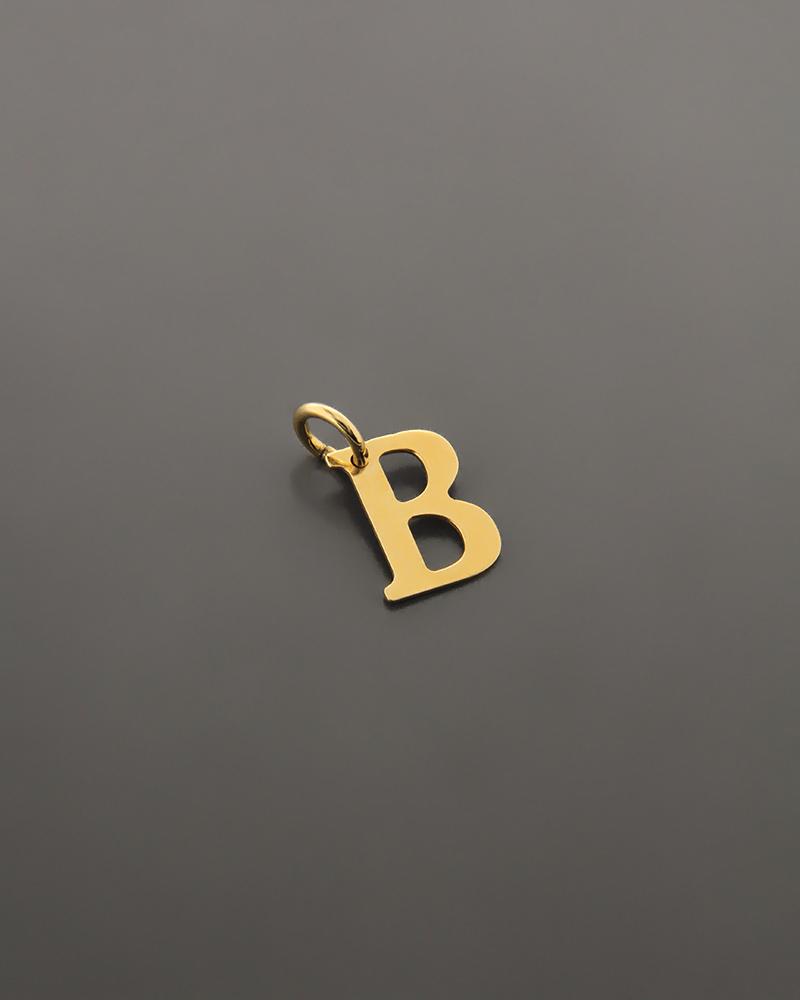 """Μονόγραμμα """"B"""" χρυσό Κ18   γυναικα κρεμαστά κολιέ κρεμαστά κολιέ μονόγραμμα"""